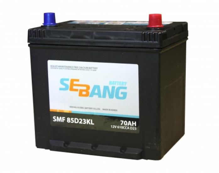 Аккумулятор Sebang SMF 65 А/ч обратная R+ EN 580A 75D23KL