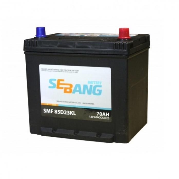 Аккумулятор Sebang SMF 70 А/ч обратная R+ EN 610A 85D23KL