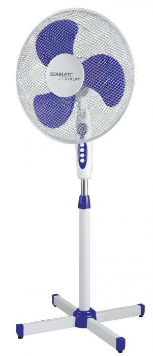 Вентилятор Scarlett SC-SF111B11 бело-голубой
