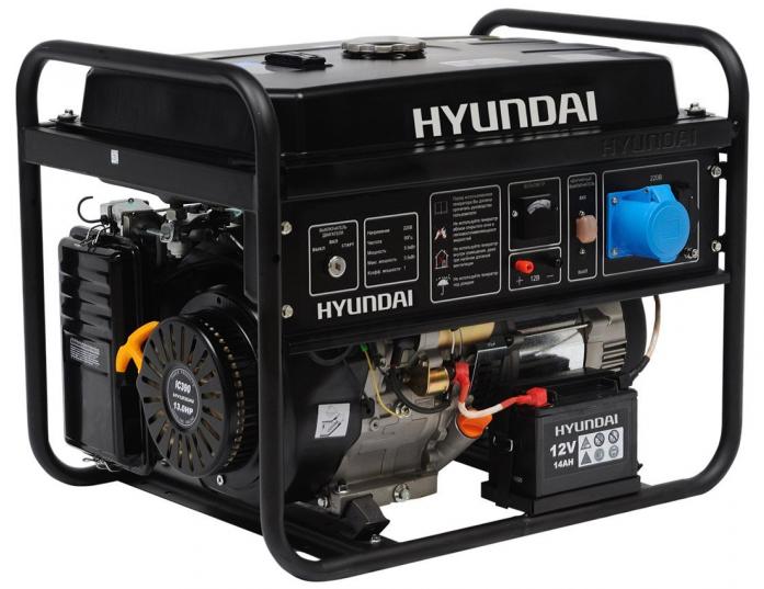 Бензиновая электростанция Hyundai HHY7010FE ATS