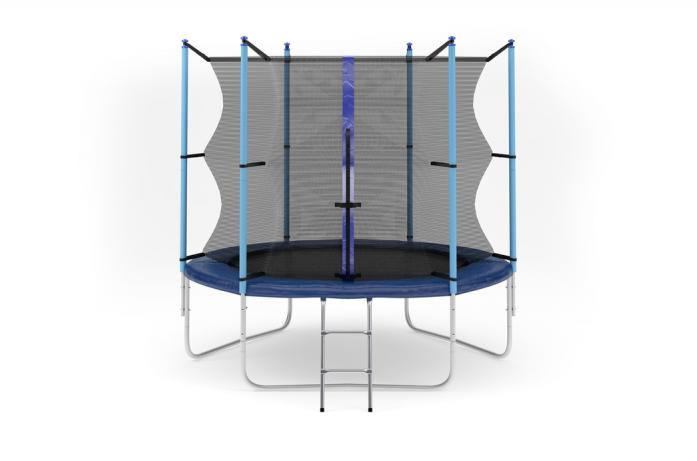 Батут DIAMOND FITNESS INTERNAL 8FT (244 СМ) с защитной сеткой и лестницей