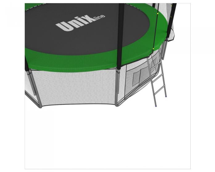 Батут Unix 10 FT С с сеткой и лестницей green