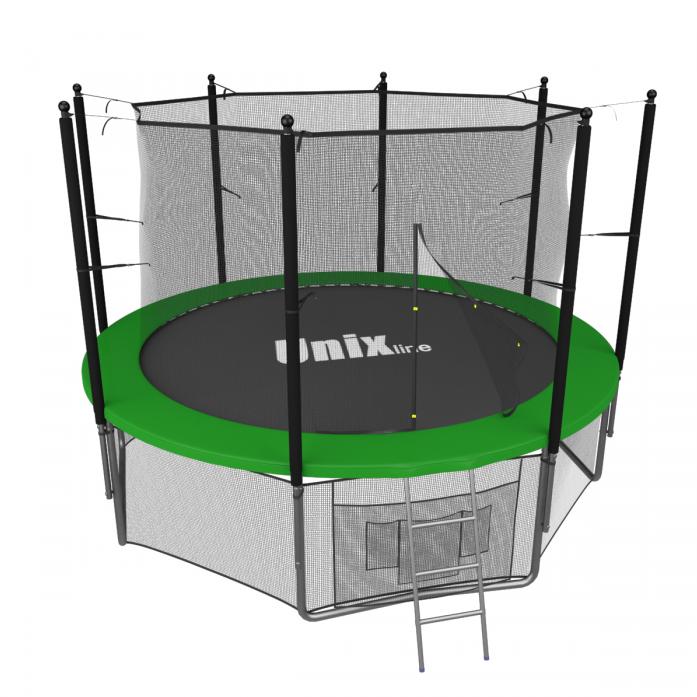 Батут Unix 8 FT INSIDE Green