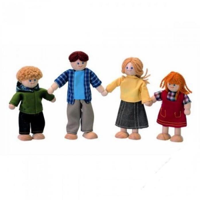 Куклы деревянные PLAN TOYS Кукольная семья 7415