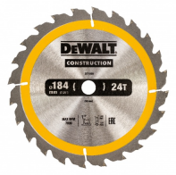 Пильный диск DeWalt Construction 184х16мм 24ATB DT1939-QZ