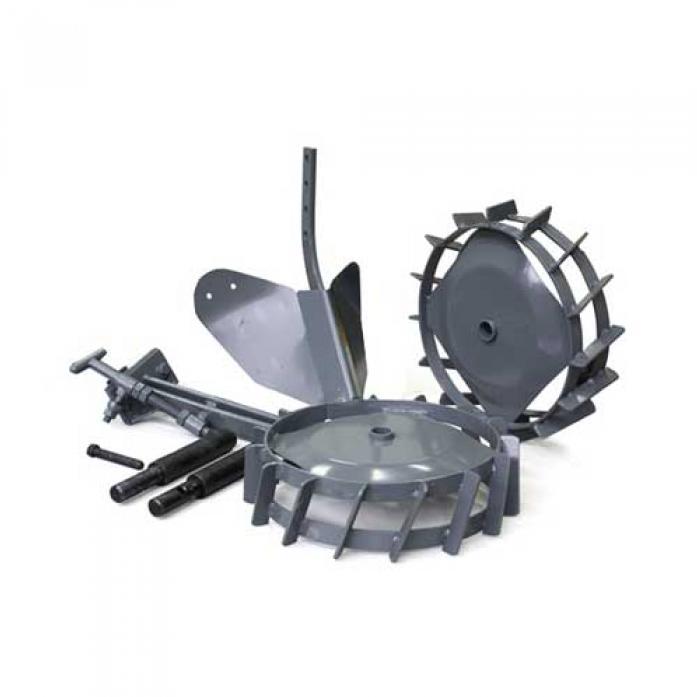 Окучник с металлическими колесами и сцепкой Pubert R0015