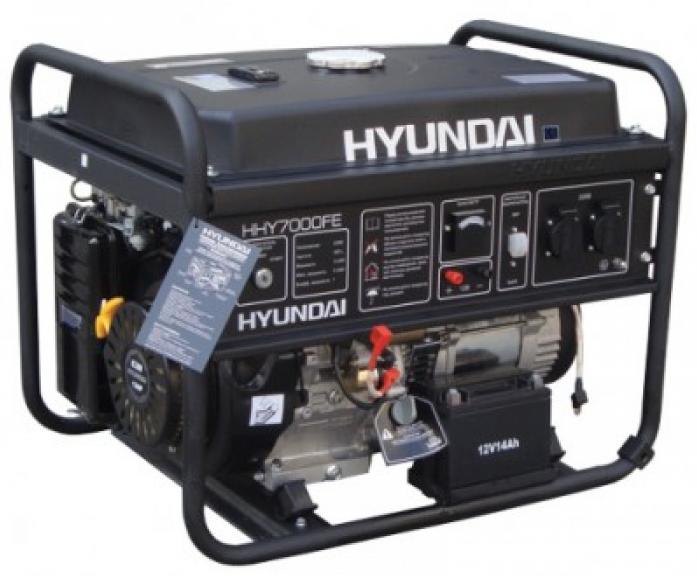 Генератор Hyundai HHY 7000FE + колеса