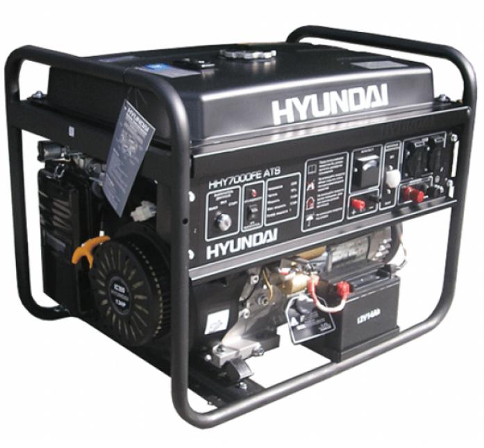 Генератор Hyundai HHY 7000FE ATS + колеса