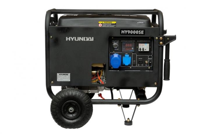 Генератор Hyundai HY 9000SE + колеса