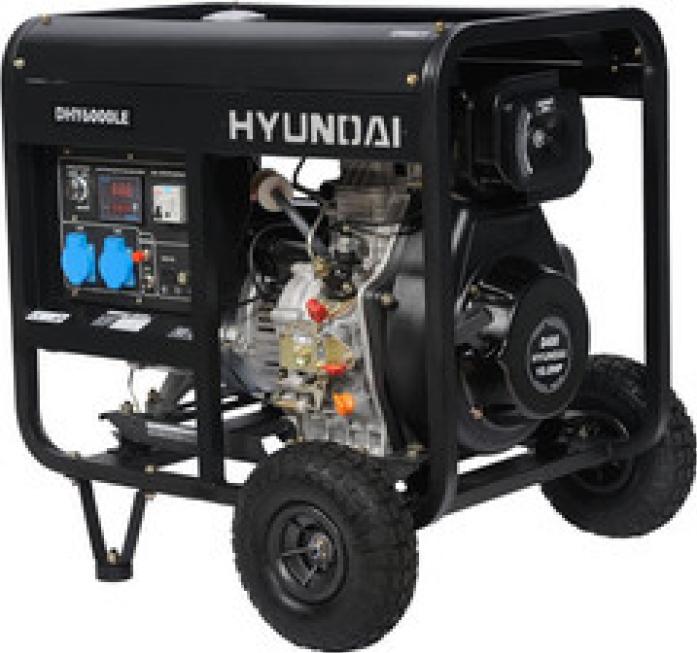 Генератор Hyundai DHY 6000LE + колеса