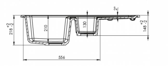 Кухонная мойка Kuppersberg ALBA 1,5B1D ECRU