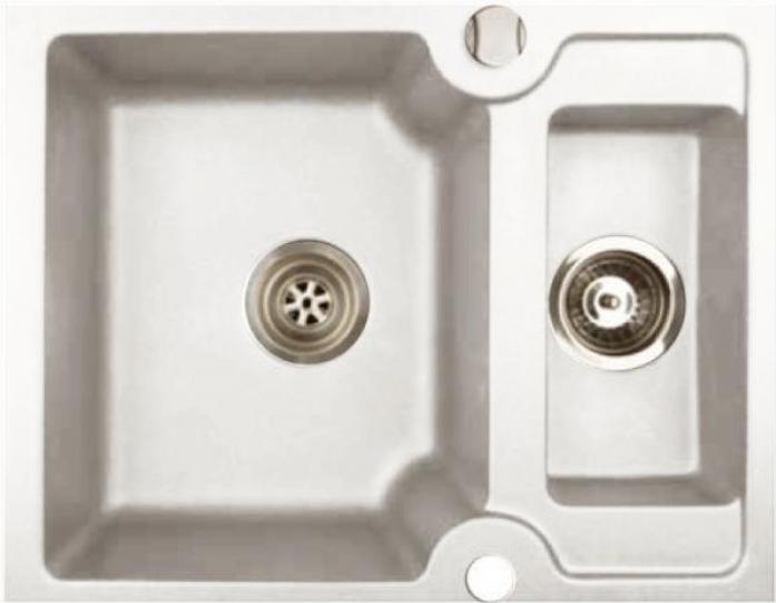 Кухонная мойка Kuppersberg MODENA 1,5B WHITE ALABAS
