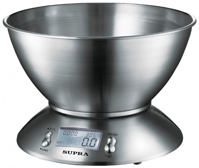 Кухонные весы Supra BSS-4095 серебристый
