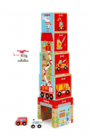 Кубики SCRATCH Stacking Tower Cars and helicopter 6181088