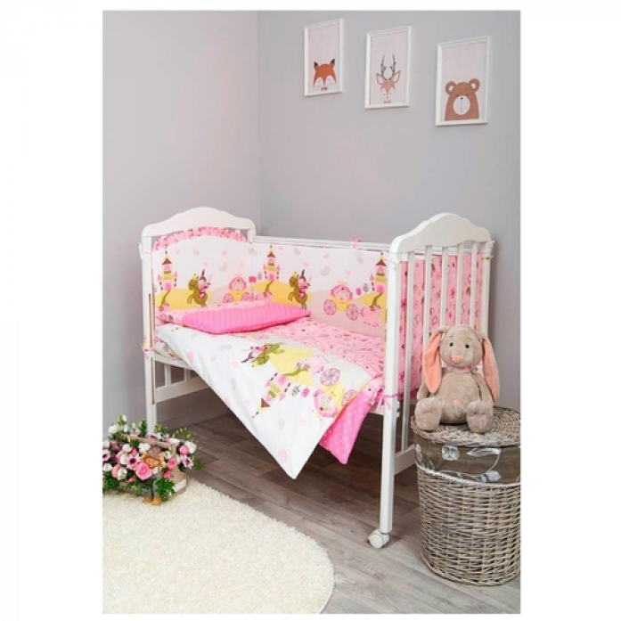 1ec5acbade92 Комплект в кроватку Сонный Гномик Золушка 607 розовый Артикул 711395 ...