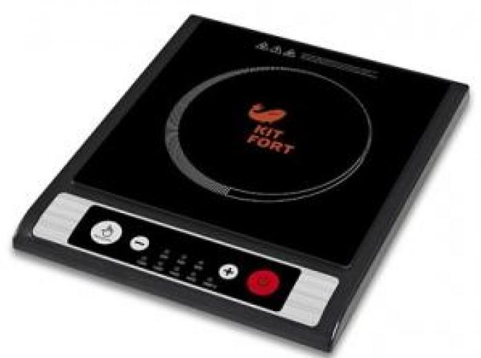 Настольная плита Kitfort КТ-107 черный