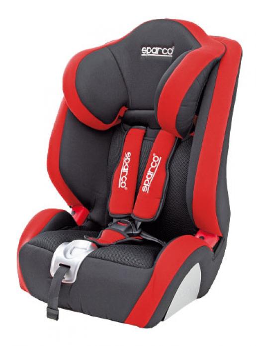 Автокресло SPARCO F 1000K черный/красный