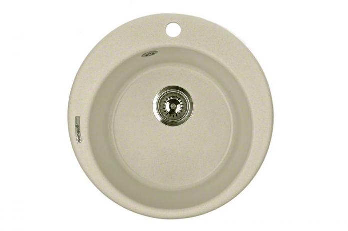 Кухонная мойка Weissgauff RONDO 480 granit бежевый