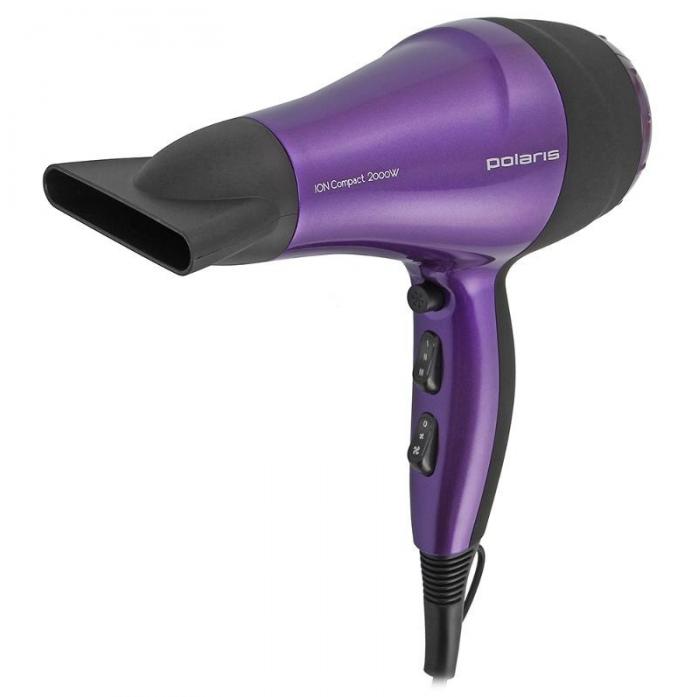 Фен Polaris PHD 2077i фиолетовый/черный