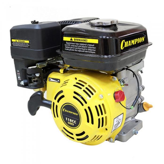 Двигатель Champion 4лс 118см3 диам. 19мм шпонка 13,4кг G120HK