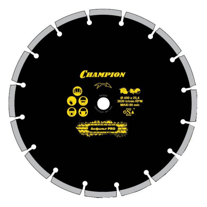 Диск алмазный Champion PRO 350/25,4/10 Asphalt Runne