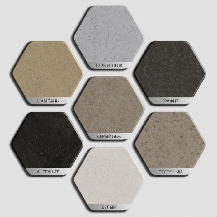 Кухонная мойка Weissgauff ASCOT 575 granit серый беж