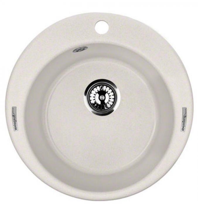 Кухонная мойка Weissgauff RONDO 480 granit белый