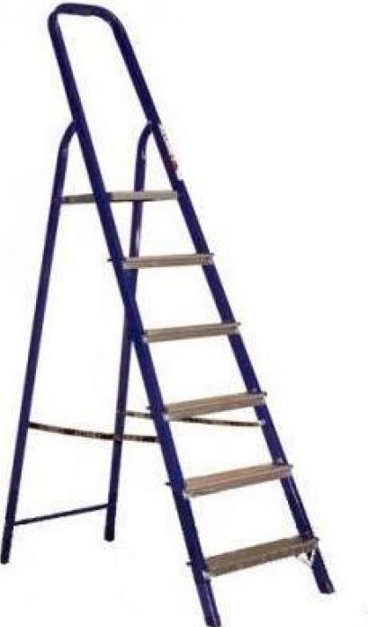 Лестница стремянка АЛЮМЕТ стальная 6 ступеней 8406