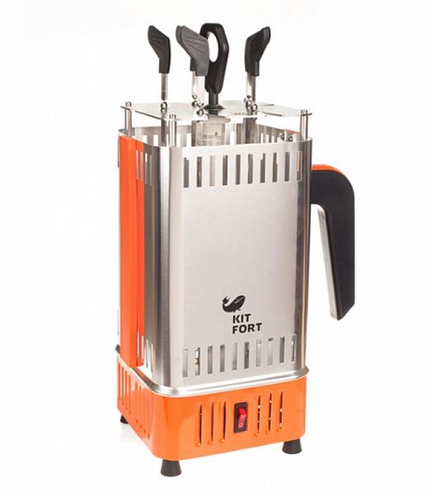 Шашлычница Kitfort KT-1403 оран/сереб