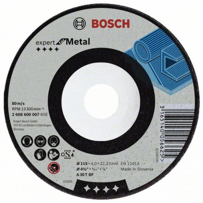 Круг шлифовальный металл Bosch Ф115 218
