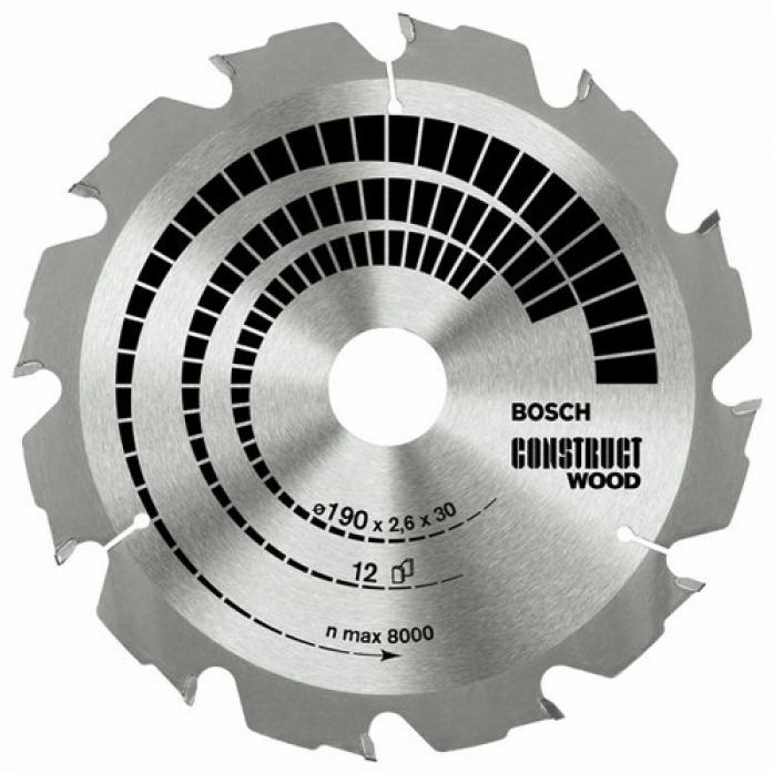 Пила твердосплавная Bosch 160х20/16х 12 Construct 630