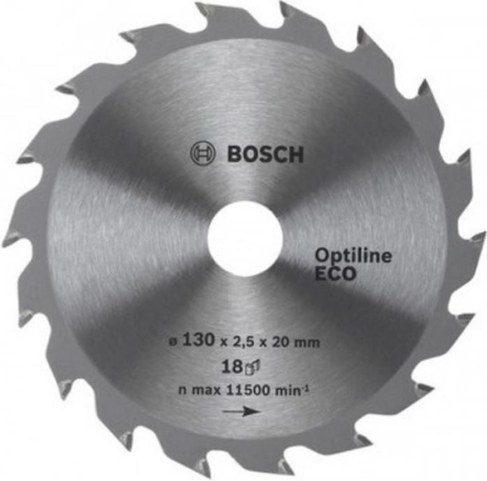 Пила твердосплавная Bosch ECO 150х20/16х 18 Optiline 783
