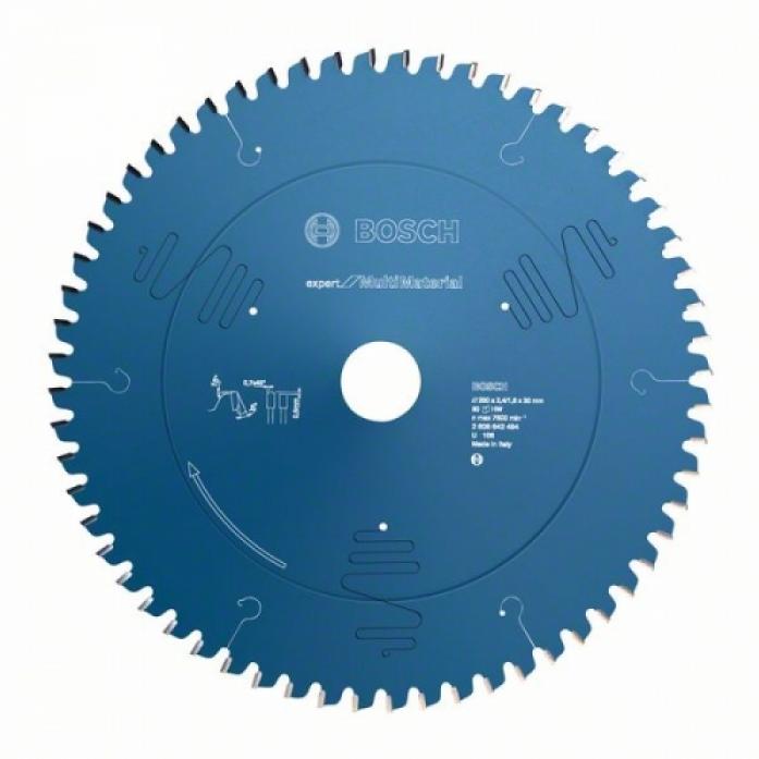Пила твердосплавная Bosch Expert for Multimaterial 250x30x2.4/1.8 80T 2608642494