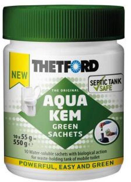 Акссесуар для биотуалетов Thetford Aqua Kem Green Sachets, 550гр