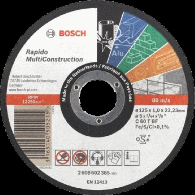 Круг отрезной Bosch Multi Construction Ф125х1