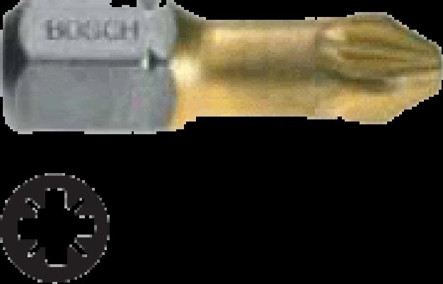 Набор 3 бит Bosch 25мм PZ2 TIN