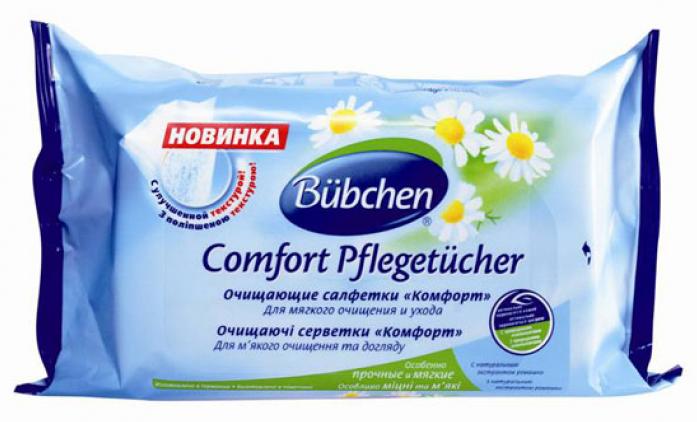 Салфетки BUBCHEN Комфорт очищающие 72шт