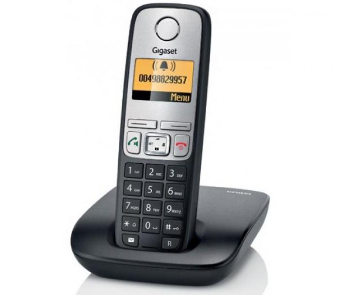 Радиотелефон Siemens Dect Gigaset A415A RUS BLACK