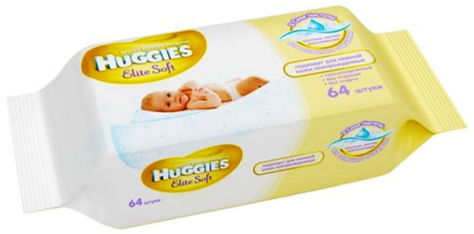 Салфетки Huggies Elite Soft 64шт