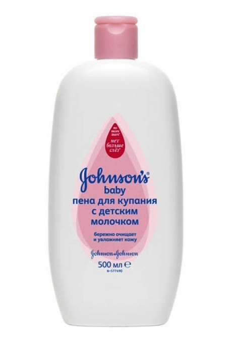 Пена для купания Johnson's Baby 500 мл (розовая бутыл)