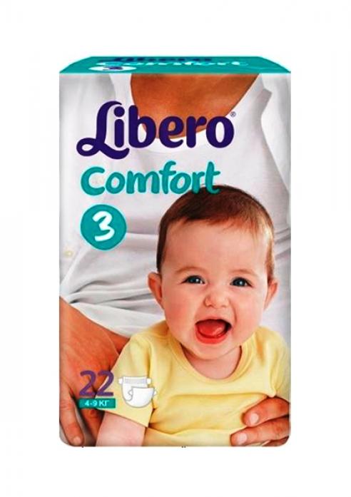 Подгузники Libero Comfort 4-9 кг 22 шт.
