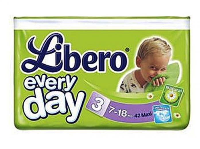 Подгузники Libero Every Day 7-18кг 42шт Maxi 3