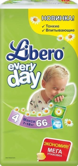 Подгузники Libero Every Day 7-18кг 66шт Maxi 4
