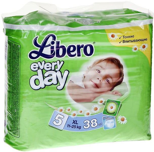 Подгузники Libero Every day 11-25кг 38шт Extra Large 5