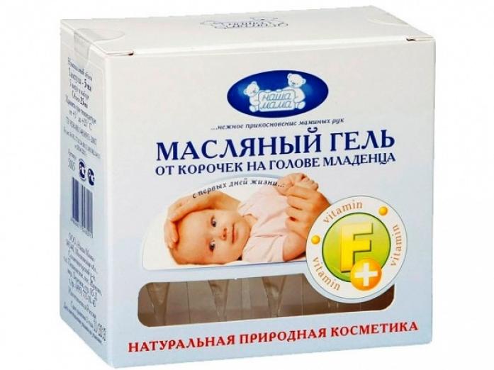 Масляный гель Наша Мама от корочек на голове младенца 30 мл 5130