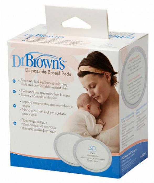 Прокладки для груди Dr. Brown's одноразовые 30шт S4022