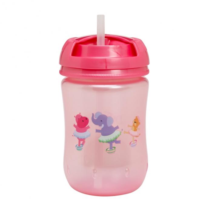 Чашка-поильник Dr. Brown's с трубочкой, розовый 270мл TC9133