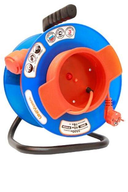 Удлинитель электрический UNIVersal на катушке У10-028 термо ПВС 2*1 20м