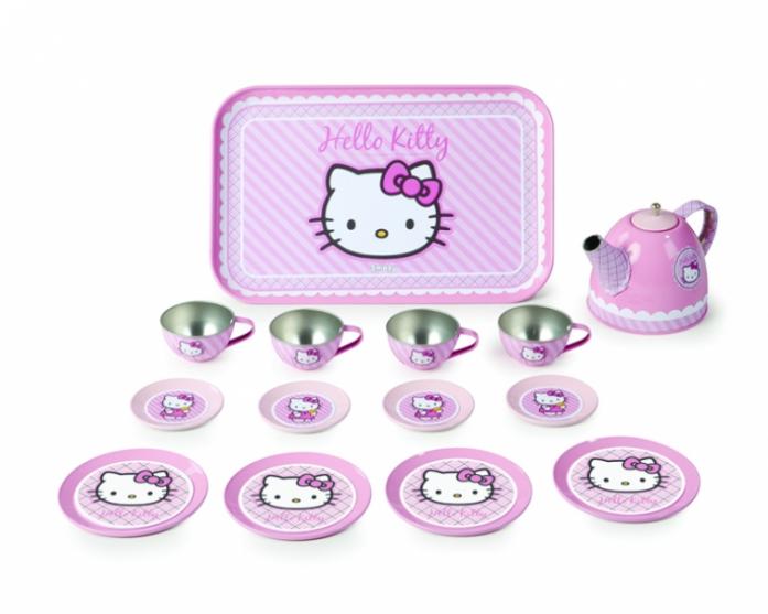Набор Smoby посудка металлическая 14 предметов Hello Kitty 24783