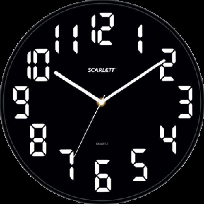 Часы настенные Scarlett SC 55BL
